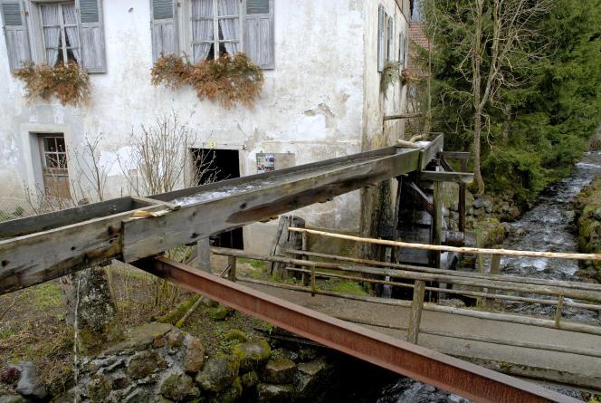 Un moulin à eau servant à l'extraction d'huile, dans le Parc naturel régional des Ballons des Vosges (Haut-Rhin).