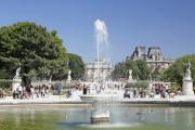 Le bassin du jardin des Tuileries, près du Louvre à Paris, où la sculpture de Marcos Lozano Merchan doit être temporairement installée en 2022.