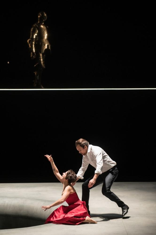 Vannina Santoni (Mélisande) et Alexandre Duhamel (Golaud) à l'Opera de Lille, en mars 2021.