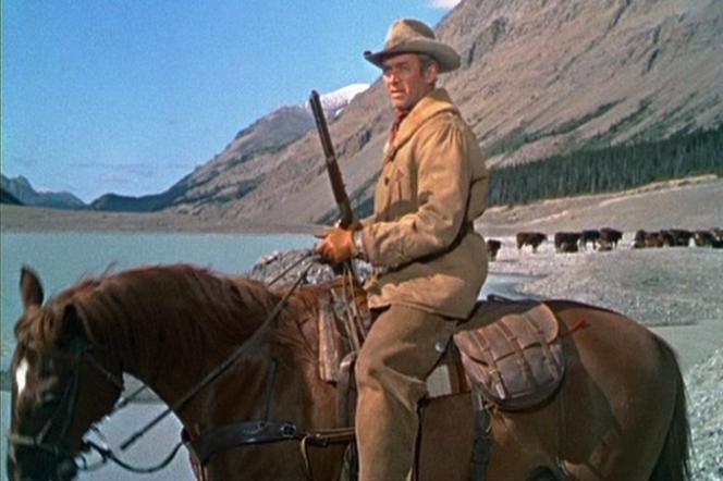 Jeff Webster (James Stewart) dans«Je suis un aventurier» (1954), d'Anthony Mann.