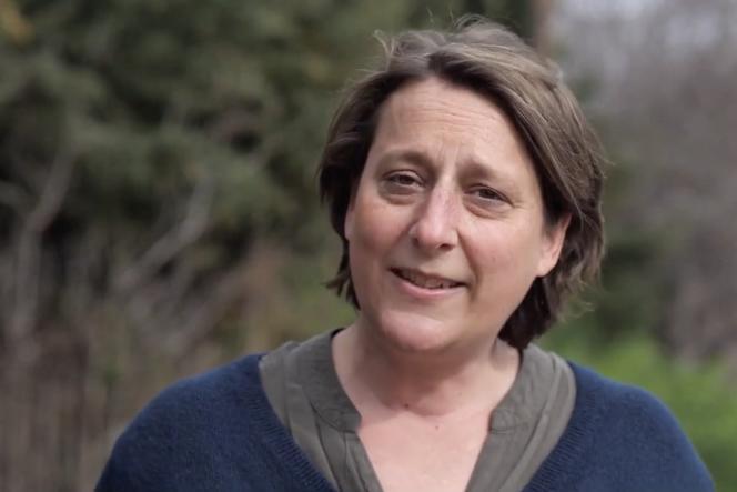 L'adjointe au maire de Marseille, Olivia Fortin, lors de la campagne pour les élections municipales , en juin 2020