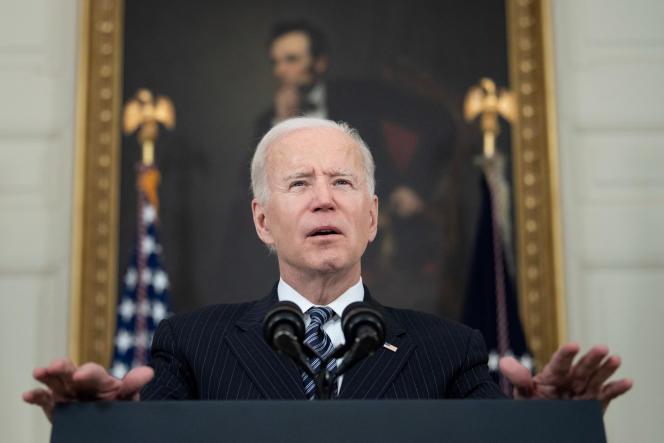 Joe Biden, le 6 avril à la Maison Blanche.
