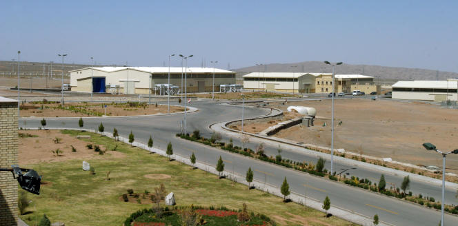L'usine d'enrichissement d'uranium de Natanz, située à 250 km au sud de la capitale Téhéran, en Iran, le 30 mars 2005.