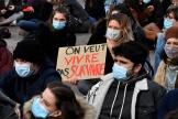 Manifestation d'étudiants à Toulouse, le 21 janvier.