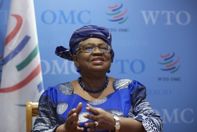 La directrice de l'OMC, Ngozi Okonjo-Iweala, à Genève, le 12avril 2021.