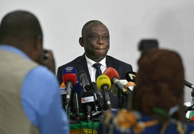 Kouadio Konan Bertin à Abidjan, le 3novembre 2020. Après sa défaite face à l'élection présidentielle, l'opposant est devenu ministre de la réconciliation nationale.
