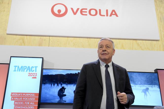 Antoine Frerot, PDG de Veolia, à Aubervilliers, le 28 février 2020.