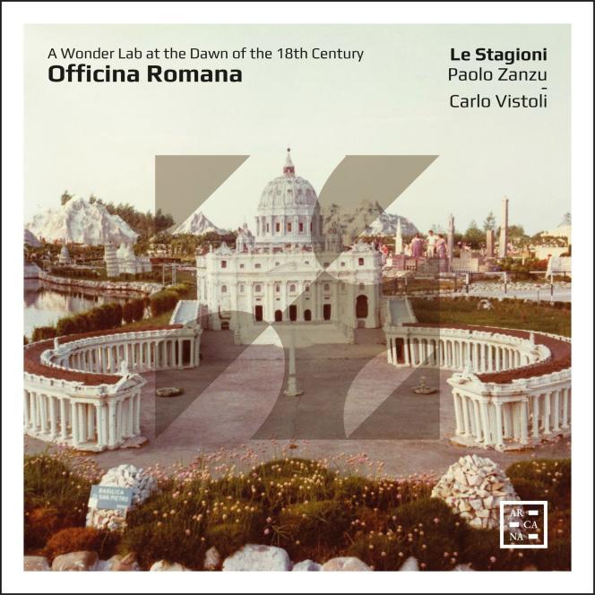 Pochette de l'album « Officina Romana», par l'ensemble Le Stagioni.