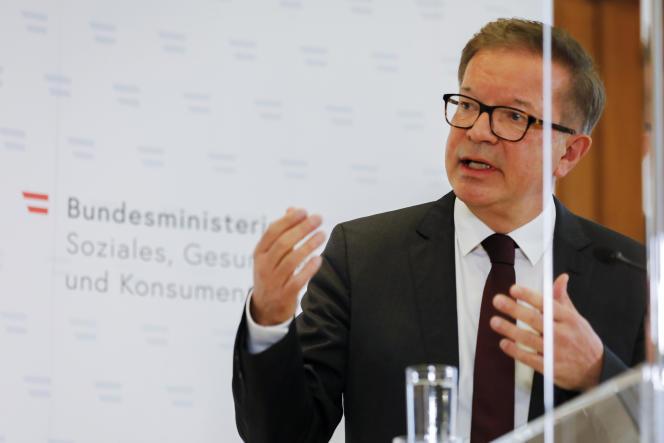Rudolf Anschober, le ministre de la santé autrichien, a annoncé sa démission mardi13avril.
