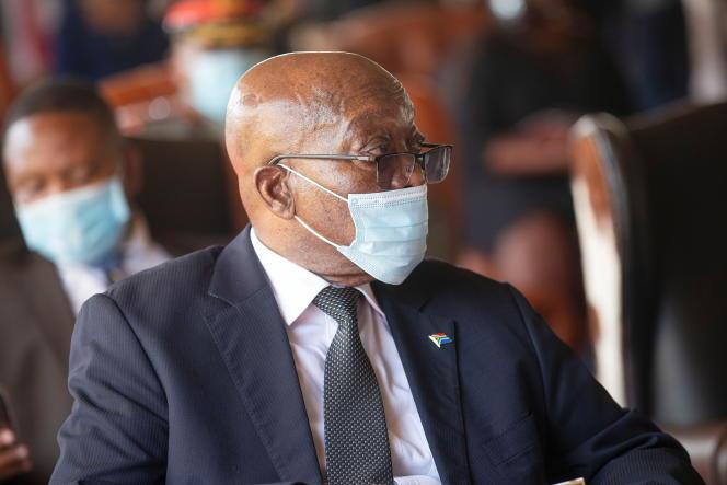 L'ancien président sud-africain Jacob Zuma à Nongoma, dans l'est du pays, le 18 mars 2021.