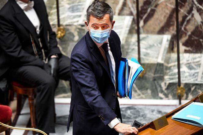 Le ministre de l'intérieur, Gérald Darmanin, lors d'une séance de questions au gouvernement à l'Assemblée nationale, à Paris, le 6 avril.
