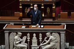 Le premier ministre, Jean Castex, devant l'Assemblée nationale, à Paris, le 13 avril.