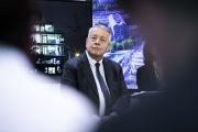 Antoine Frérot, PDG de Veolia, présente les résultats 2019 de l'entreprise à son siège d'Aubervilliers (Seine-Saint-Denis), en février 2020.