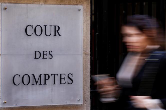 L'entrée principale de la Cour des Comptes, à Paris, le 25 février 2020.