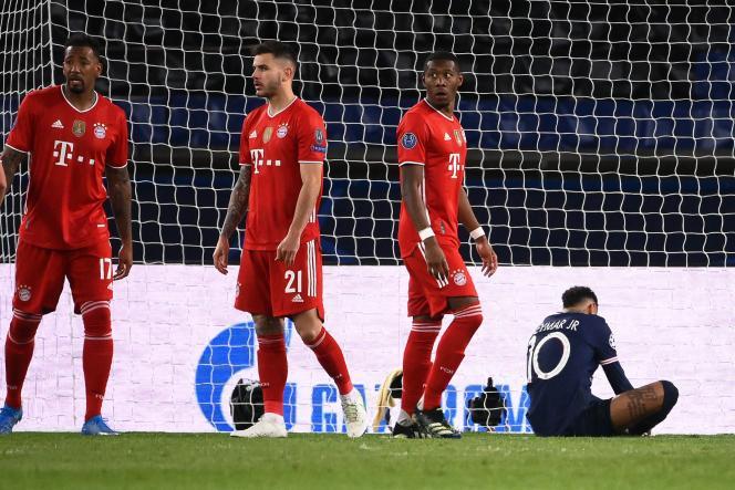 Les défenseurs bavaroisJérôme Boateng, Lucas Hernandez et David Alaba ont réussi cette fois à contrer les assauts du PSG de Neymar.