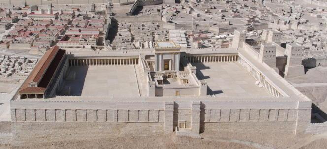 Maquette du Second Temple de Jérusalem. Les pharisiens s'inscrivent dans le judaïsme du Second Temple.