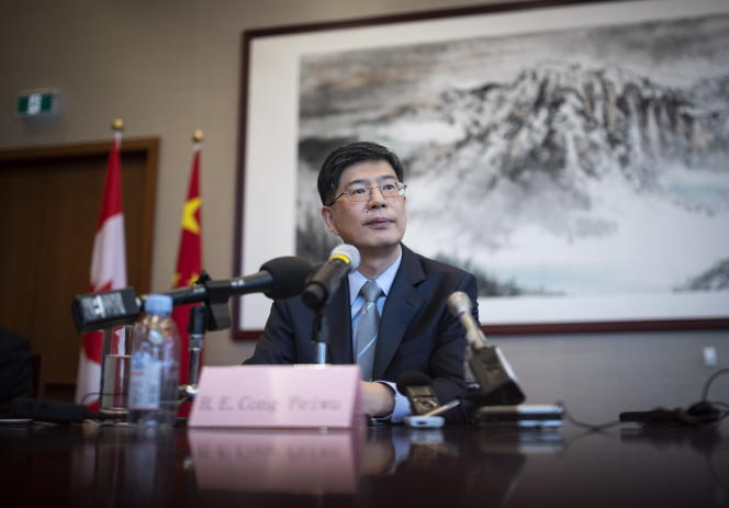 L'ambassadeur de Chine au Canada, Cong Peiwu, le 22 novembre 2019 à Ottawa.