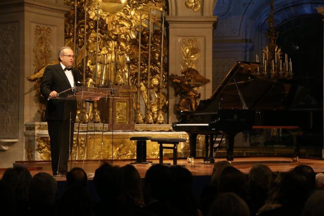 David Khayat, lors d'un gala de son association AVEC, à Versailles, le 3 février 2014.
