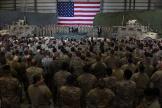 Des troupes américaines dans la base de Bagram en Afghanistan, le 28 novembre 2019.