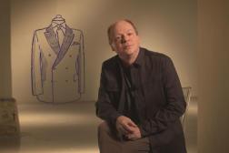Patrick Boucheron dans le magazine «Faire l'histoire», pour le numéro consacré au costume-cravate, sur Arte.
