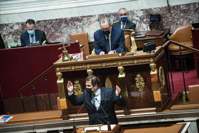 Christian Jacob, président du parti Les Républicains, à l'Assemblée nationale à Paris, le 13 avril.