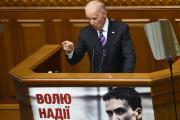 Joe Biden, alors vice-président américain,s'adresse aux députés du Parlement ukrainien, à Kiev, le 8 décembre 2015.