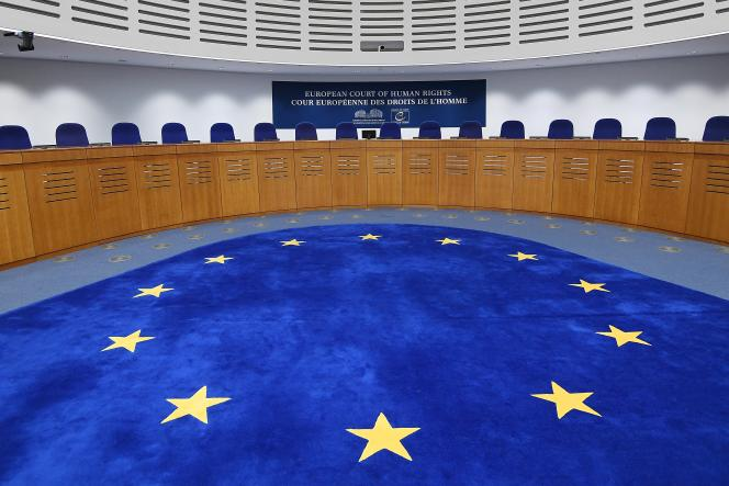L'intérieur de la Cour européenne des droits de l'Homme, à Strasbourg, en 2019.