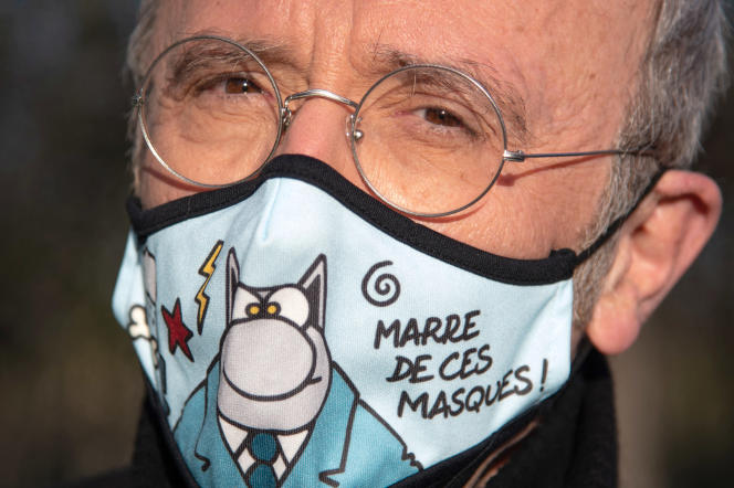 Philippe Geluck aux Champs-Elysées , le 25 mars.