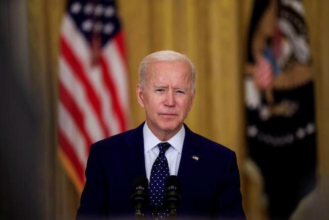 Le président américain, Joe Biden, lors d'une conférence de presse, à la Maison Blanche, le 15 avril.