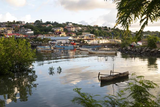 Le port de pêche de M'Tsapere le 29 mars 2021.