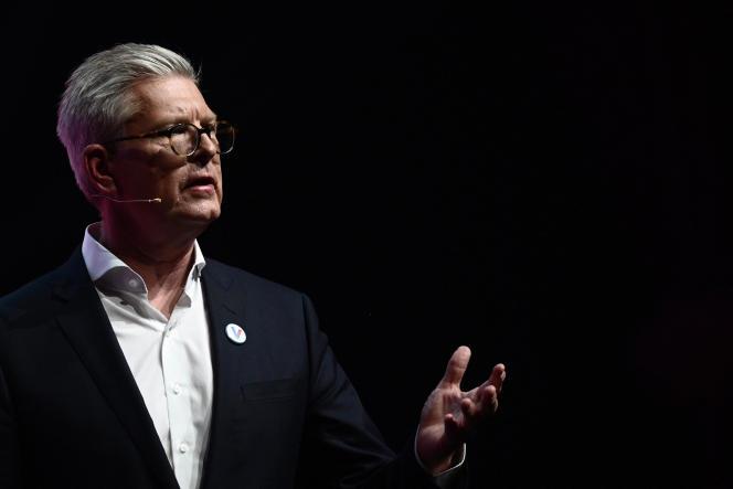 Le patron d'Ericsson, Börje Ekholm, lors du Salon VivaTech, à Paris, le 16 mai 2019.