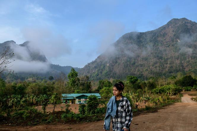 Dans l'Etat Karen, près de la frontière entre la Birmanie et la Thaïlande, le 11 avril.
