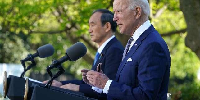 Défis face à la Chine, objectifs climatiques, 5G: Joe Biden et Yoshihide Suga affichent leur unité