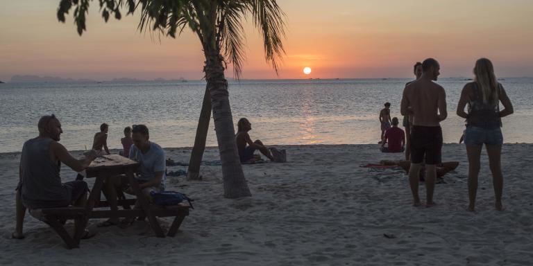 Zen beach, au nord-est de Koh Phangan, une île thaïlandaise, le 5 mars 2021.