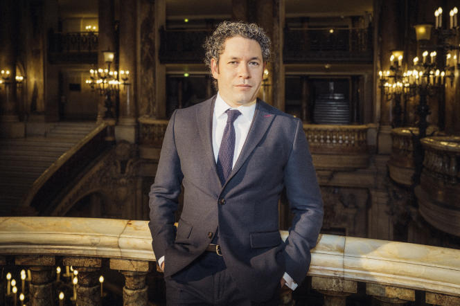 Gustavo Dudamel, le 15 avril, à l'Opéra Garnier, à Paris.