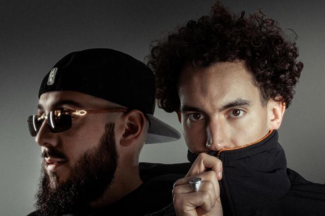 Les rappeurs Caballero (à gauche) et JeanJass, en 2020, à Bruxelles.