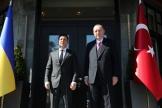 Volodymyr Zelensky et Recep Tayyip Erdogan, le 10 avril à Istanbul (photo transmise par le service de presse présidentiel turc).