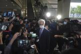 L'avocat Martin Lee, fondateur du Parti démocratique, juste avant sa condamnation, au tribunal de Hongkong, le 16 avril.