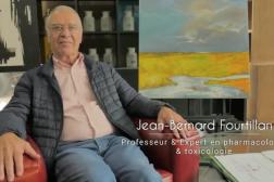 Capture d'écran montrant le professeur Jean-Bernard Fourtillan dans le documentaire « Hold-up ».
