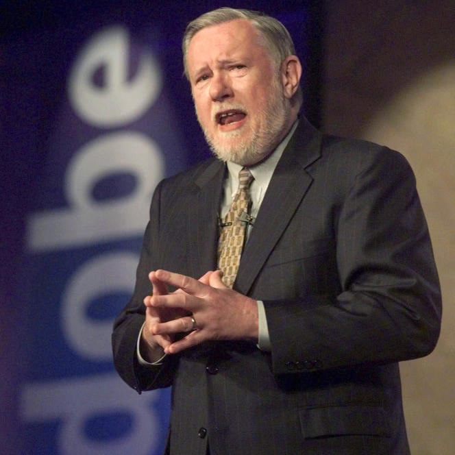 Charles Geschke à l'âge de 59 ans, le 24 juin 1999.