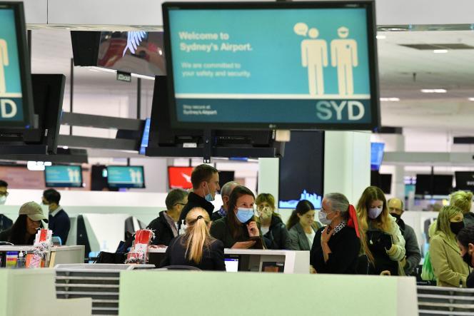 April 19 at Sydney International Airport.