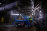 Dans une mine d'exploitation de cuivre, à Surperior, en Arizona, le 30 mars 2021.