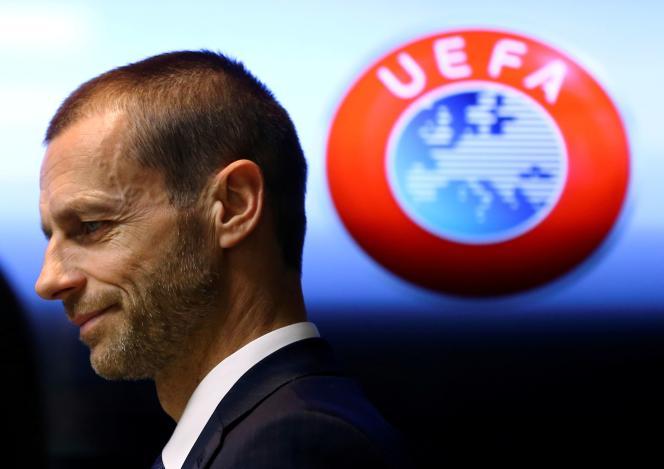 Le président de l'Union des associations européennes de football (UEFA), Aleksander Ceferin, en mars 2017.