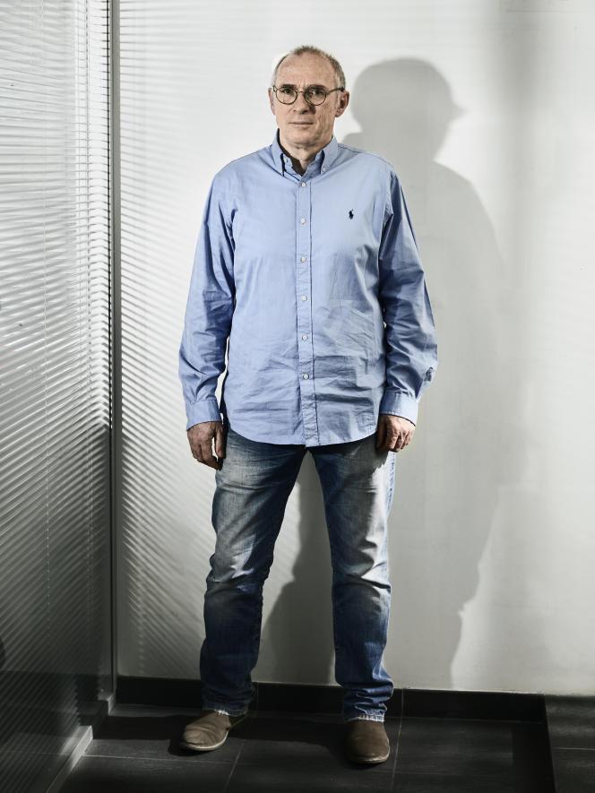 Le producteur de cinéma Jean Bréhat, mercredi 24 mars 2021, dans les locaux de la société 3B Productions, à Paris.