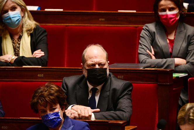 Le ministre de la justice, Eric Dupond-Moretti, lors d'une séance de questions au gouvernement, à l'Assemblée nationale, le 9 mars.