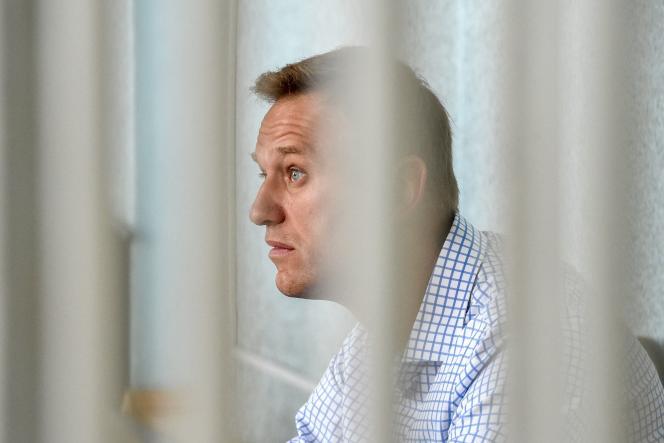 Alexeï Navalny lors d'uneaudience au tribunal à Moscou, le 24 juin 2019.