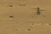 L'hélicoptère Ingenuity a volé trois mètres au-dessus de mars, le 19 avril 2021.