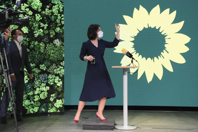 La co-dirigeante du parti vert allemand, Annalena Baerbock, à Berlin, le 19 avril.