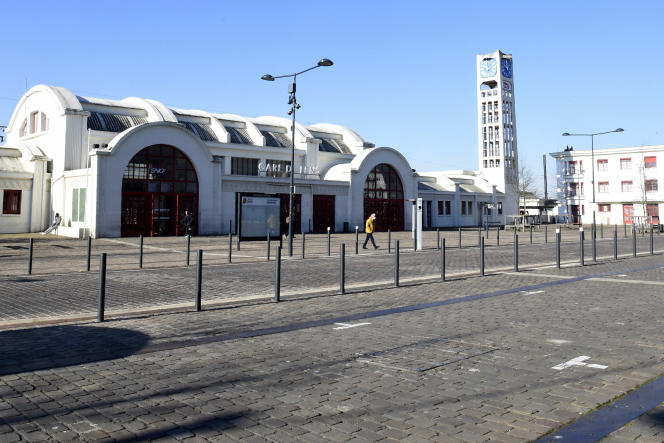 La gare de Lens (Pas-de-Calais), en mars.