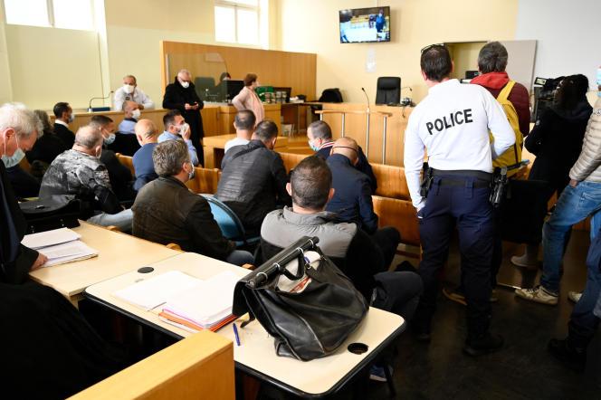 Au procès de la BAC Nord de Marseille, le 12 avril 2021.